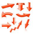 3d arrows orange signs and symbols vector image vector image