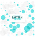 abstract blue and gray circles background vector image vector image