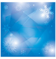 abstract blue winter background with snowflakes vector image