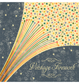 Abstract festive fireworks grunge background vector image