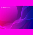 abstract wave lines pattern on pink and blue vector image vector image