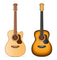 acoustic guitar stock vector image vector image