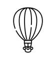 air balloon line icon concept vector image vector image
