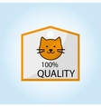 Animal shop design vector image