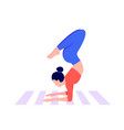athletic young women working out doing handstand vector image vector image