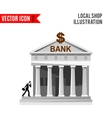 Bank detailed flat design icon vector image vector image