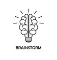 brainstorm line icon on isolated background vector image