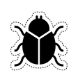 bug insect isolated icon vector image