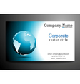 business card design with globe vector image