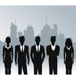 business people teamwork urban background vector image vector image