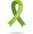 Cancer Ribbon Lymphoma International Day of vector image vector image