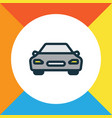 car colorful outline symbol premium quality vector image vector image