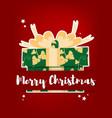 christmas holidays season background vector image