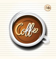 coffee cup doodle vector image vector image