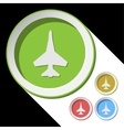 color icons with fighter vector image vector image