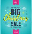 colorful christmas sale poster seasonal sale vector image vector image