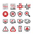 computer virus icon vector image vector image