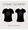 Cosmic Geometry T-Shirt vector image vector image