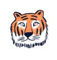 cute tiger head hand drawing vector image vector image
