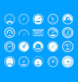 dashboard icon blue set vector image