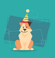 dog wear holiday hat new year and christmas 2018 vector image