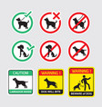 dogs symbols signs vector image