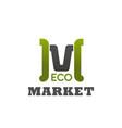 eco market emblem vector image vector image