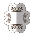 Emblem metal decorative swirl icon