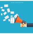 Flat loudspeaker icon Management concept Social vector image