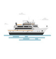 flat motor yacht boat vector image vector image