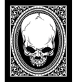 frame with skull retro t-shirt design vector image vector image