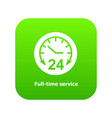 full time service icon green vector image