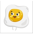 Funny fried egg isolated cartoon character