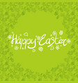 green poster easter holiday with doodle texture vector image vector image