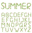 Green summer letters vector image