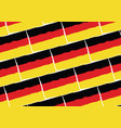 grunge germany flag or banner vector image vector image