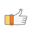 hand like social media icon vector image