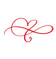heart love flourish sign forever infinity vector image vector image