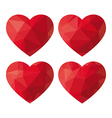 Heart Polygon vector image vector image