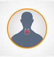 hypothyroidism logo icon design vector image vector image