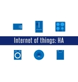 IoT - Home Appliances Icons vector image vector image