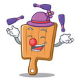 juggling kitchen board character cartoon vector image vector image