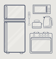 Kitchen Line Icon vector image