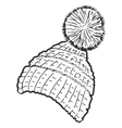 knitted cap vector image vector image