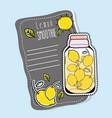 lemon smoothie juice vector image vector image