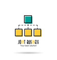 linear icon - joint business vector image vector image