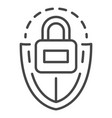 lock shield icon outline style vector image