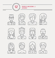 Man and Women Avatars vector image vector image
