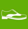 men shoe with lace icon green vector image vector image