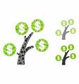 money tree composition icon raggy elements vector image vector image